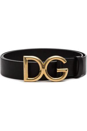 Dolce & Gabbana Läderskärp med logotypspänne