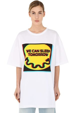 Maison Margiela Kvinna Sleep Tomorrow Cotton Jersey T-shirt