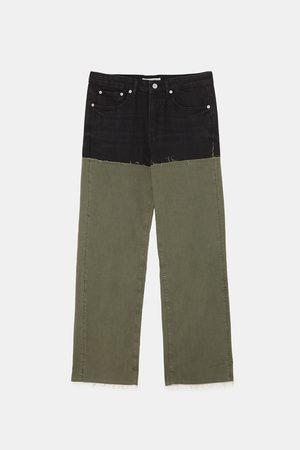 Zara Kvinna Jeans - JEANS ZW PREMIUM WIDE BLACK & GREEN