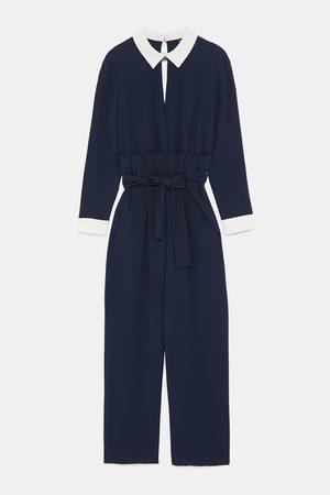 9a16b62ce009 Billiga Blåa jumpsuits   hängselbyxor för Kvinna på Rea
