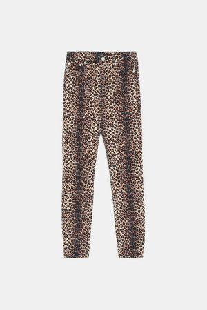 Zara Jeans zw premium high waist skinny fall leopard