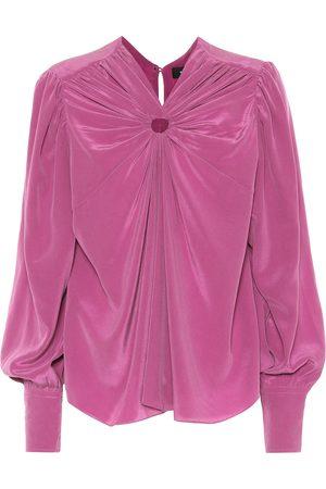 Isabel Marant Lenore silk crêpe blouse