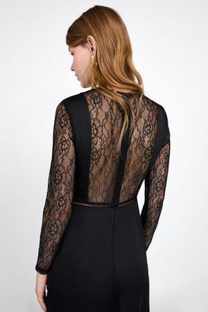 Zara Kombinerad klänning med spets 8c6ea9f41406f