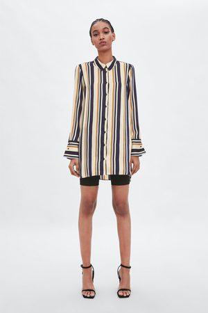Zara Lång randig skjorta