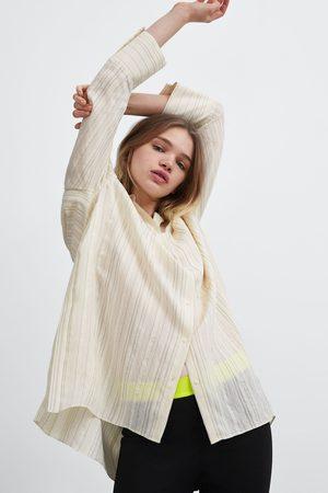 Zara Striped oversized shirt