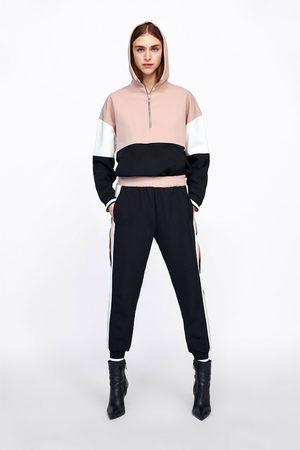 Zara Joggingbyxa med sidorevär