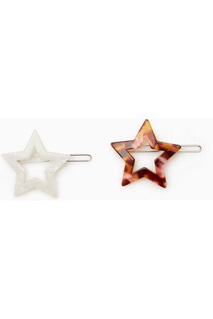 Zara Tvåpack hårspännen med pärlemorglänsande stjärna