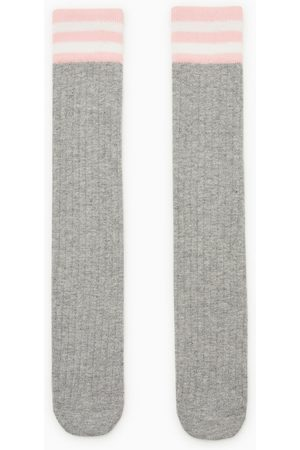 Zara Ribbed knee-high socks