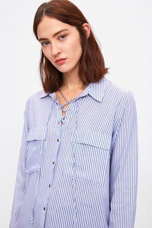 Zara Randig skjorta med snörning