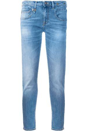 R13 Avskurna skinny-jeans
