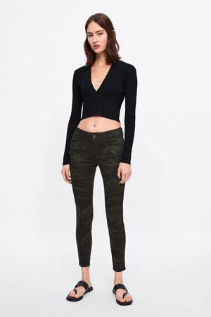 Zara Skinny-jeans z1975 med kamouflage