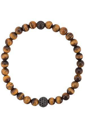 Nialaya CZ pärlat armband med tigeröga
