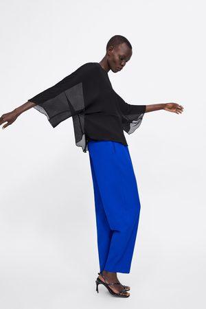 Zara plisserad kvinna blusar 520404079ff06