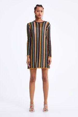 Zara Randig stickad klänning