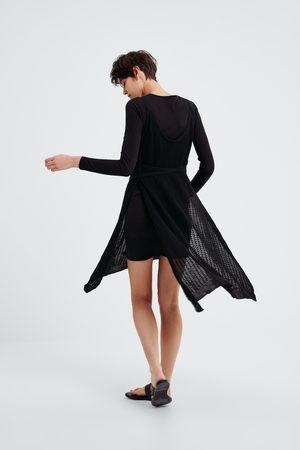 Zara Kombinerad och stickad klänning
