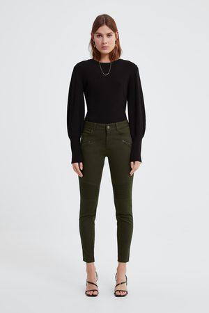 Zara Skinny-jeans z1975 med dragkedjor