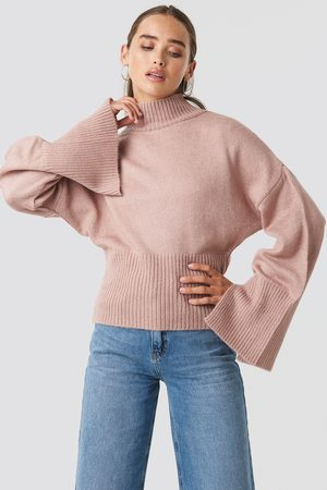 NA-KD Open Sleeve Knitted Sweater - Stickade tröjor - Rosa - XX-Small