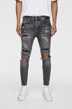 Zara Skinny-jeans med revor