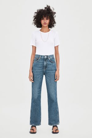 Zara Jeans hi rise straight relaxed
