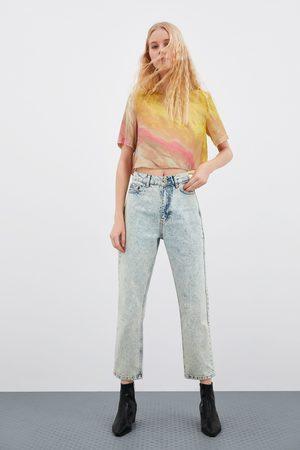 Zara Kvinna Straight - Jeans hi rise straight