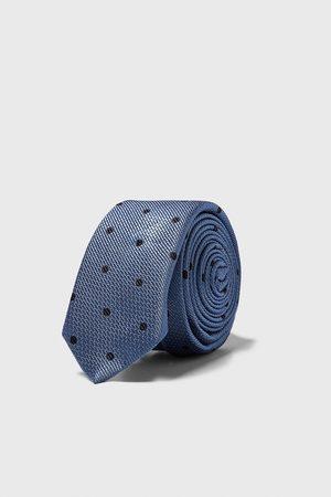 Zara Kvinna Smal slips i jacquard med prickar