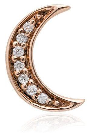 Andrea Fohrman Halvmåneformade örhängen i 14 karat roséguld med diamanter