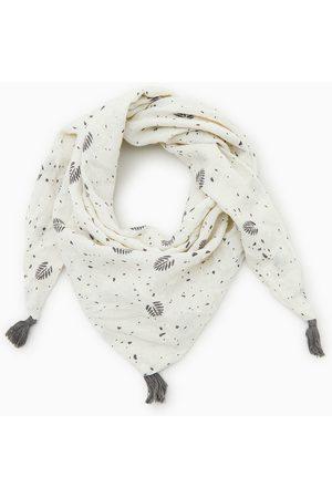 Zara Tringulär scarf med blad