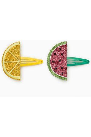 Zara Tvåpack hårspännen med glittriga frukter