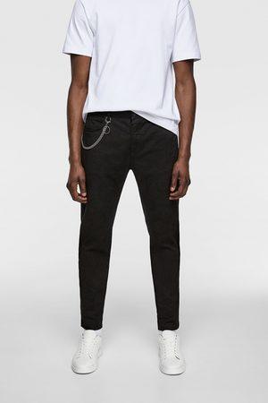 Zara överfärgad byxa med kedja
