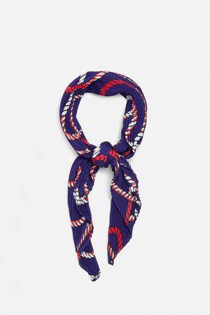Zara Kvinna Sjalar & Halsdukar - Plisserad och mönstrad scarf