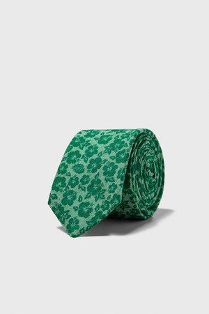 Zara Smal blommönstrad slips