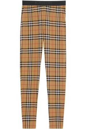 Burberry Logo Detail Vintage Check Leggings