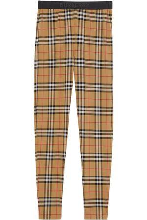 Burberry Vintagerutiga leggings med logotyp
