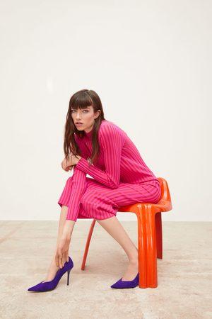 Zara Stickad tvåfärgad klänning