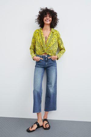 Zara Mönstrad och kort skjorta