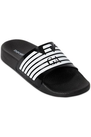 Armani Logo Printed Rubber Slide Sandals