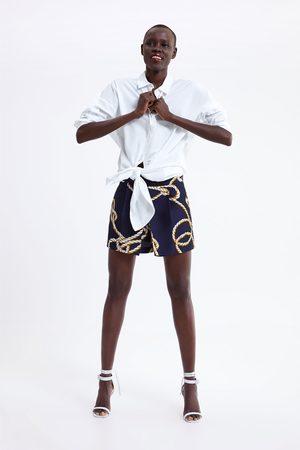 Zara Bermudashorts med knutmönster