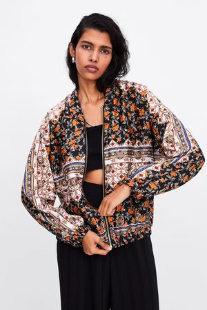 Zara Bomberjacka med blommigt mönster