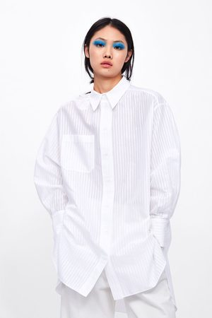 Zara Oversizeskjorta med ficka