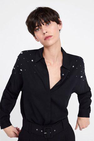 Zara Oversizeskjorta med applikationer