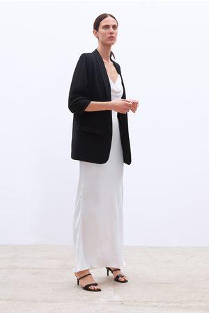 Zara Kvinna Kavajer - Crepe blazer