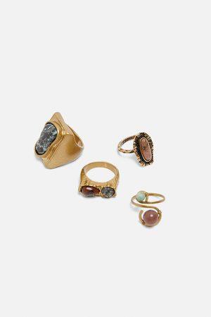 Zara Pack ringar med stenar limited edition