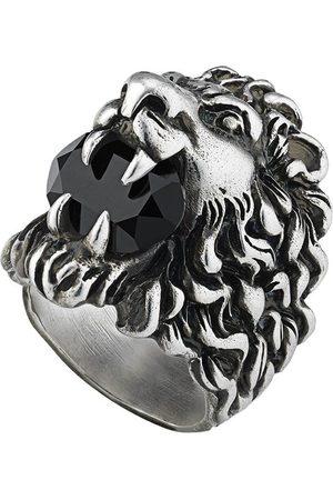 Gucci Ring med lejonhuvud och kristall