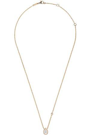 Boucheron Serpent Bohème halsband i 18K gult guld med hänge i pärlemor