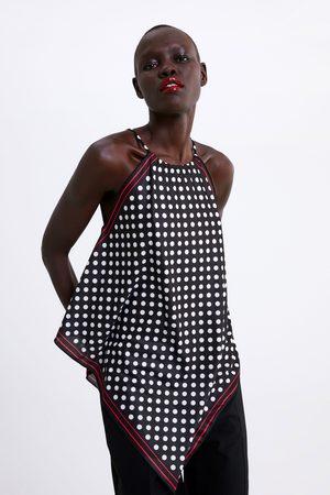 Zara Printed halterneck top