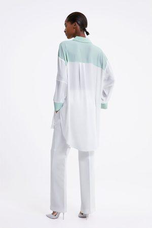 Zara Oversizeskjorta med färgblock
