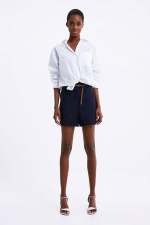 Zara Bermudashorts med flätat skärp