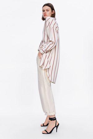 Zara Randig oversizeskjorta