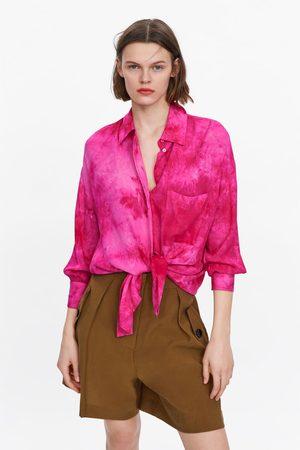 Zara Oversized tie-dye shirt