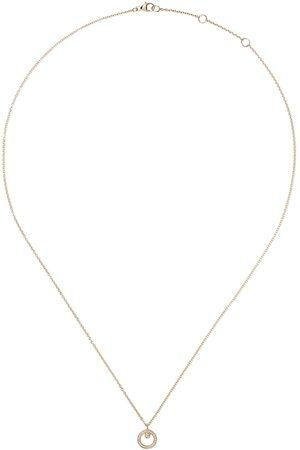 Georg Jensen Halo halsband i 18K gult guld med diamanthänge